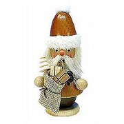 Christian Ulbricht Natural Wood Finish Mini Santa w/ Bag Incense Burner