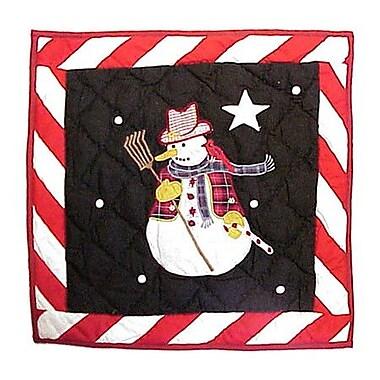 Patch Magic Frosty Snowman Cotton Throw Pillow