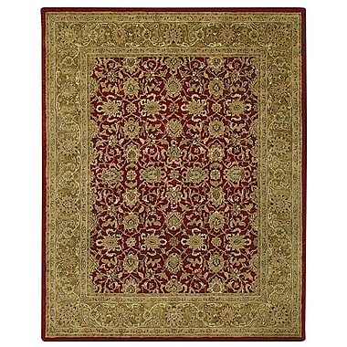 Capel Orinda Red/Beige Area Rug; 7' x 9'