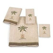 Avanti Linens Banana Palm 4 Piece Towel Set; Linen