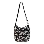 Jenni Chan Signature Soft Crossbody Bag; Black / White