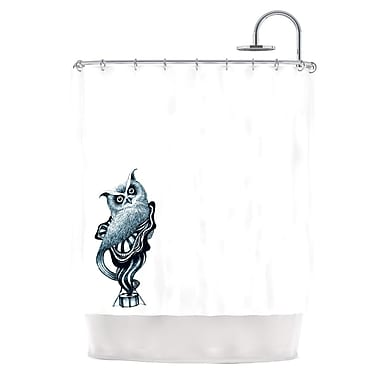 KESS InHouse Owl Shower Curtain