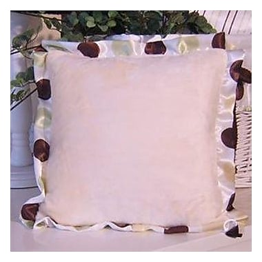 Brandee Danielle Ash Polka Dot Trim Throw Pillow; Lemon