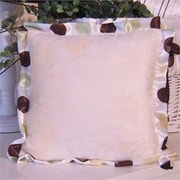 Brandee Danielle Ash Polka Dot Trim Throw Pillow; Lemon