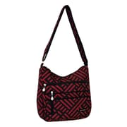 Jenni Chan Signature Soft Crossbody Bag; Black / Red