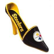 Cypress Decorative Team Shoe Wine Bottle Holder; Pittsburgh Steelers
