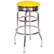 Richardson Seating Retro Home 30'' Swivel Bar Stool with Cushion; Yellow