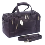 Claire Chase Petite Sport 14'' Leather Travel Duffel; Caf