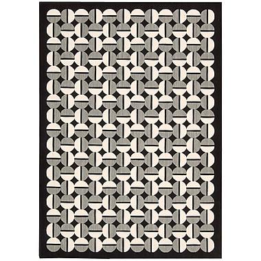 Joseph Abboud Griffith Black/Grey Geometric Area Rug; 3'6'' x 5'6''