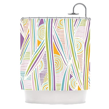 KESS InHouse Graphique Shower Curtain; White