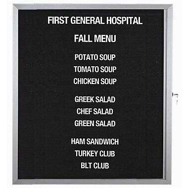 AARCO Enclosed Directory Board in Black; 18'' H x 24'' W