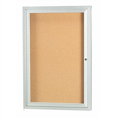 AARCO Wall Mounted Enclosed Bulletin Board; 36'' H x 24'' W