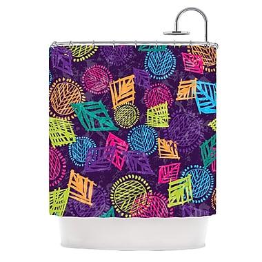 KESS InHouse African Beat Shower Curtain; Purple