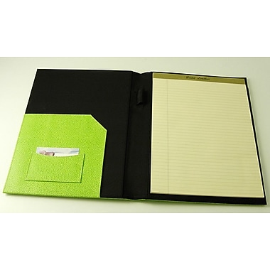 Budd Leather On the Go Pebble Grain Letter Size Pad Cover; Lime