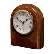 Designs By Marble Crafters Polaris Clock; Saffron Brown Onyx