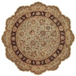 Capel Monticello Celadon/Cocoa Meshed Rug; Scalloped 8'