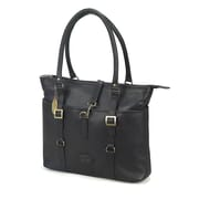 Claire Chase Ladies Computer Tote Bag; Black