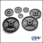 USA Sports by Troy Barbell 45 lbs Olympic Plate in Black