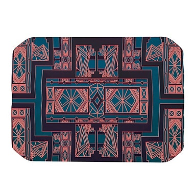 KESS InHouse Golden Art Deco Placemat; Blue and Coral