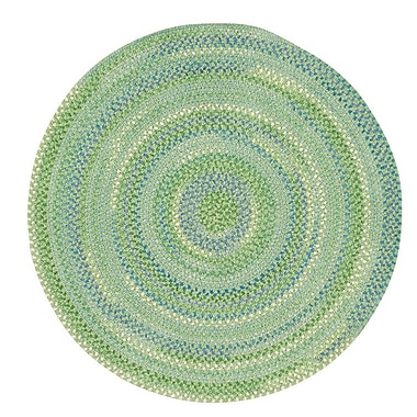 Capel Waterway Sea Monster Green Area Rug; Round 8'6''