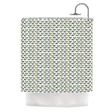 KESS InHouse Spring Stem Shower Curtain