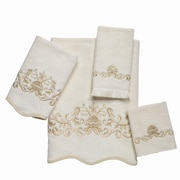 Avanti Linens Premier Venetian Scroll Scallop 4 Piece Towel Set