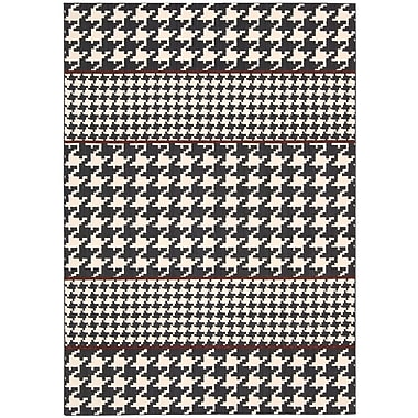 Joseph Abboud Griffith Domino White/Black Geometric Area Rug; 9'6'' x 13'