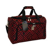 Jenni Chan Signature 17'' City Travel Duffel; Black and Red