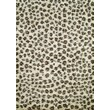 Concord Shaggy Leopard Ivory Area Rug; 6'7'' x 9'3''
