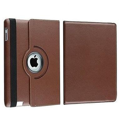 Bargain Tablet Parts Ipad 2 and Ipad 3 Rotating Case; Brown