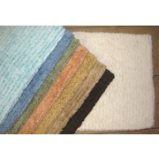 American Mills Solid Stripe Cotton Bath Mat; Ivory