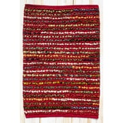 CLM Staccato Red Area Rug; 2' x 3'