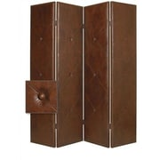 Screen Gems 84'' x 76'' Copley Double Sided 4 Panel Room Divider