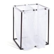 The Bag Stand Co Double Hamper with Bag; Bronze