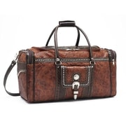 American West Cattle Drive 22'' Leather Travel Duffel