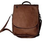David King Expandable Vertical Backpack; Caf  / Dark Brown
