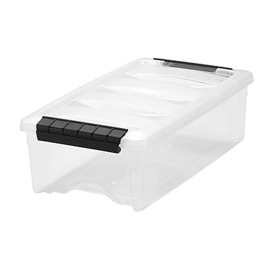 Iris 5.75 QT Stack & Pull Box , Clear/Black