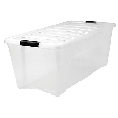 Iris 83.7 QT Stack & Pull Box , Clear/Black