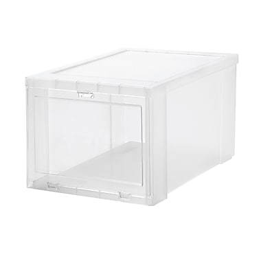 Iris Drop Front Shoe Box, Clear