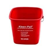 San Jamar KP97RD 3 qt. Plastic Kleen Pail, Red