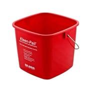 San Jamar KP196RD 6 qt. Plastic Kleen Pail, Red