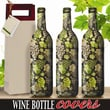 Kimco Products Gourmet Grapes Wine Bottle Cover (Set of 3)