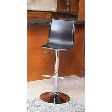 Matrix Klub 22'' Adjustable Swivel Bar Stool; Black