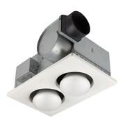 Broan 70 CFM Bathroom Fan with Two Bulb Heater