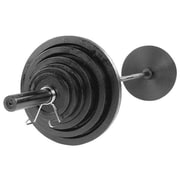 Body Solid 400 lbs Cast Olympic Set with Black Bar