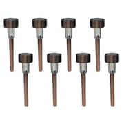 Brinkmann Round Mini Solar Stake Light (Set of 8); Copper