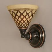 Toltec Lighting 1 Light Wall Sconce; Black Copper