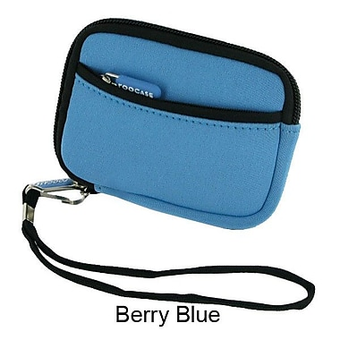 rooCASE Neoprene Sleeve Carrying Case for Digital Camera; Berry Blue