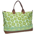 Amy Butler Meris Cotton Gym Duffel; Poppies Green