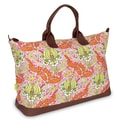Amy Butler Meris Cotton Gym Duffel; Temple Tulips Tangerine